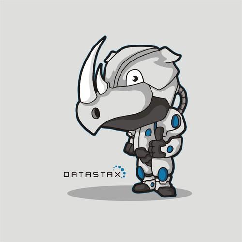 Cyborg Rhino Mascot for Database Company
