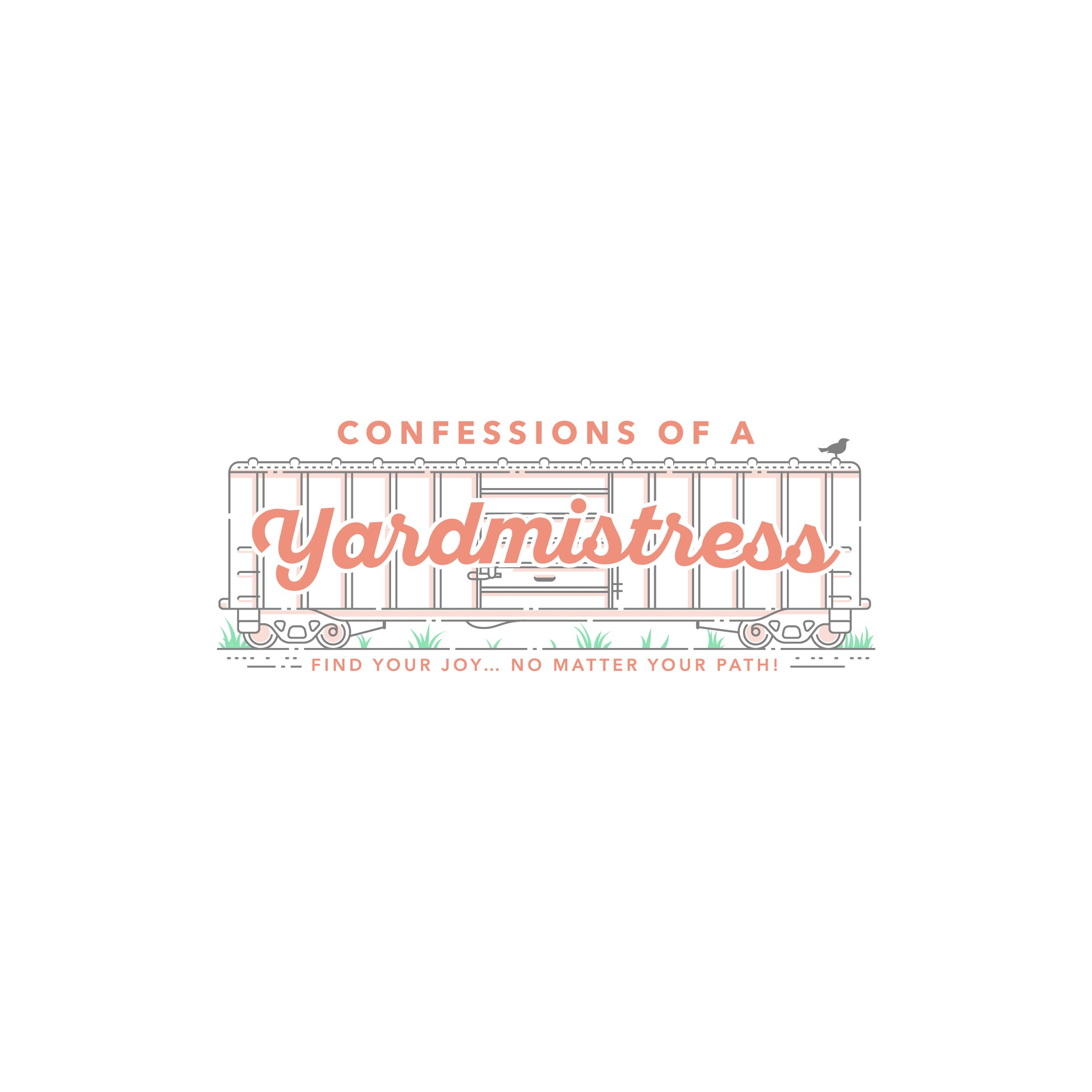 Create an engaging logo for Confessions of a Yardmistress blog and book