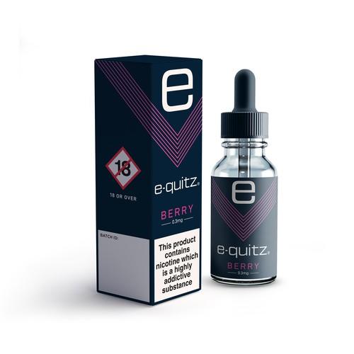 e-liquid box and label design