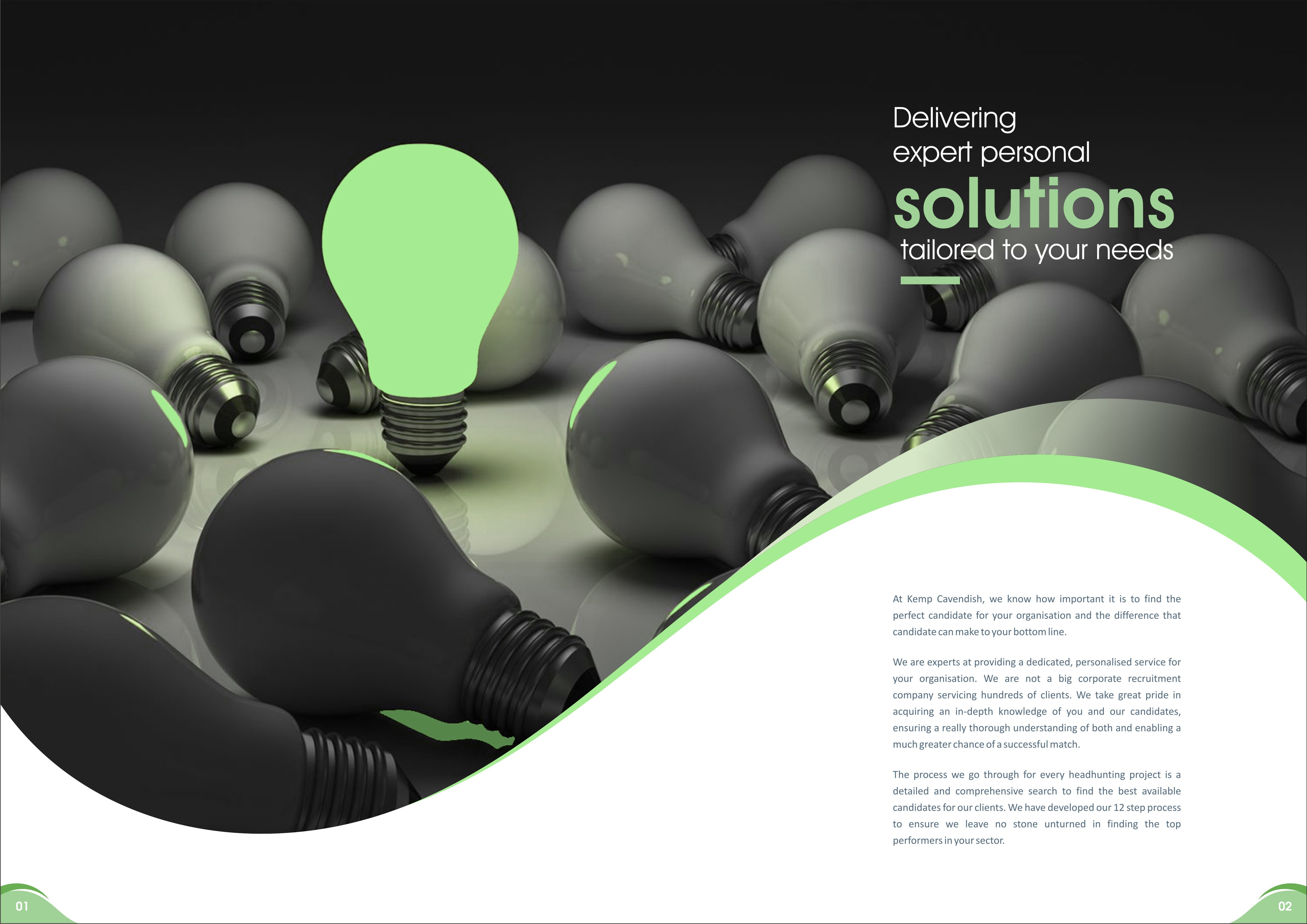 Create a new brochure for headhunting company