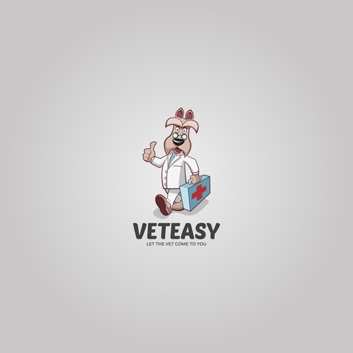 Character logo for Home visiting veterinarian doctor
