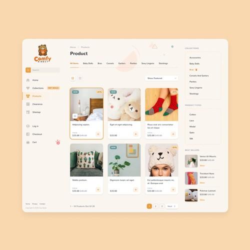 Cute E-commerce site redesign
