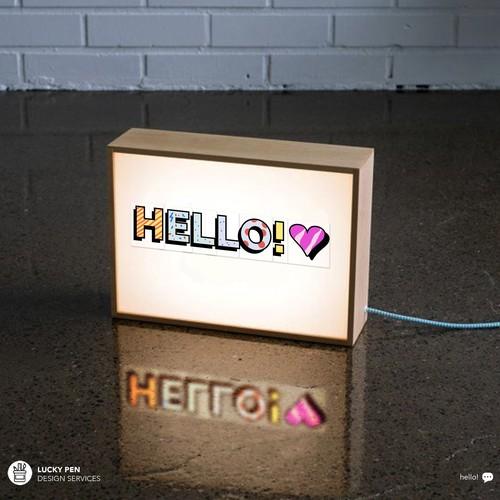Design of Letters for Lightbox