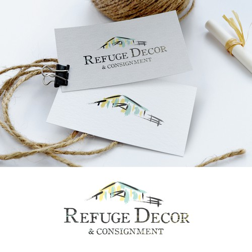 Logo for Refuge Decor retail storefront selling home decor, furnishings, and gifts.