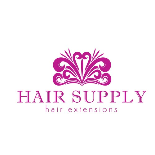 Logo concept for a new hair extensions company