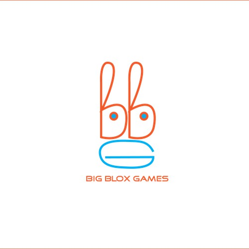 Create a fun, playful logo for Big Blox Games.