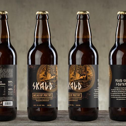 Label for viking Mead Skald