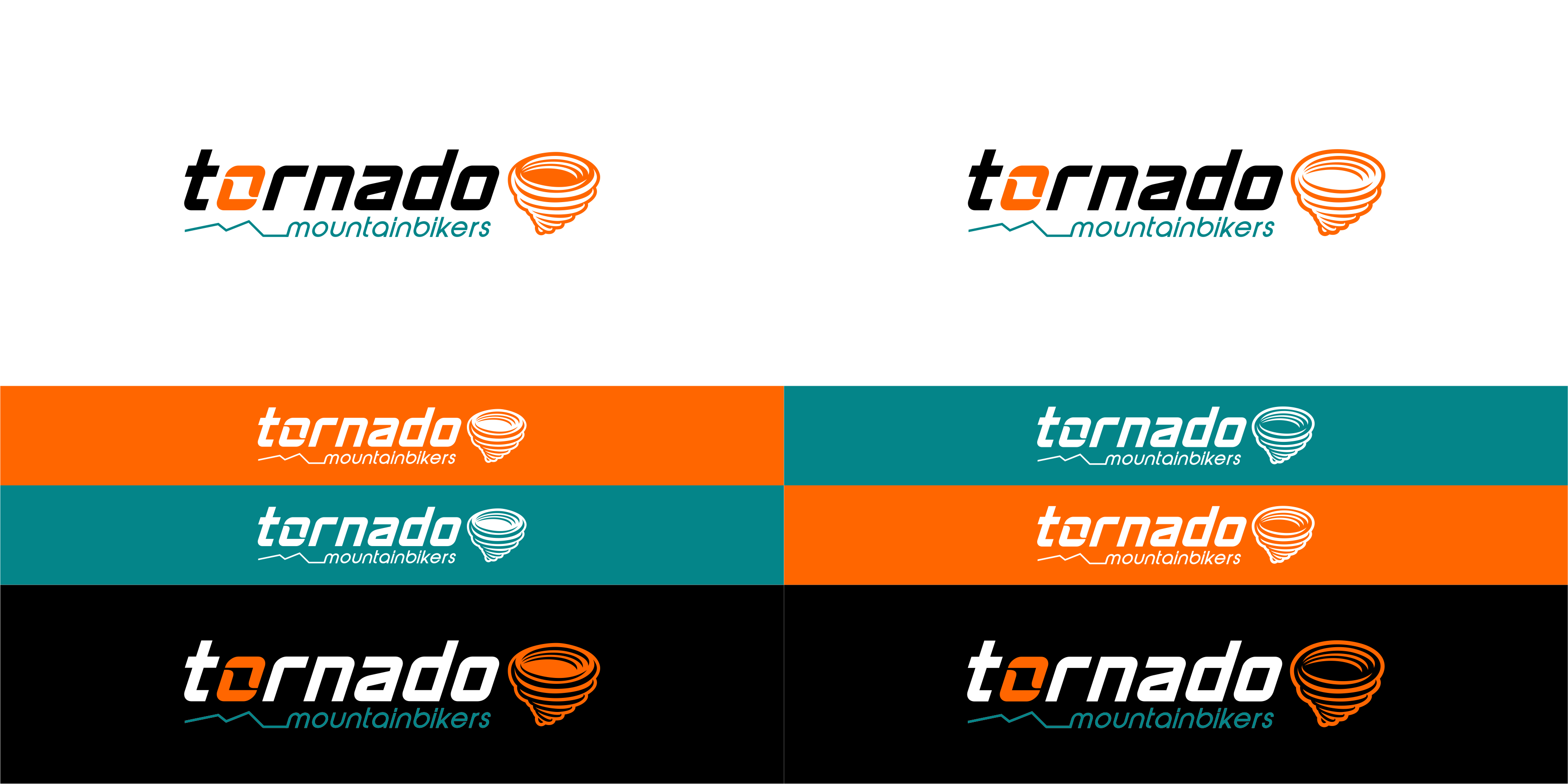 Create a blazing illustration for Tornado Mountainbikers