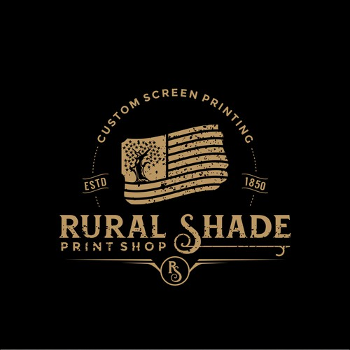 Rural Shade Print Shop needs a rustic logo