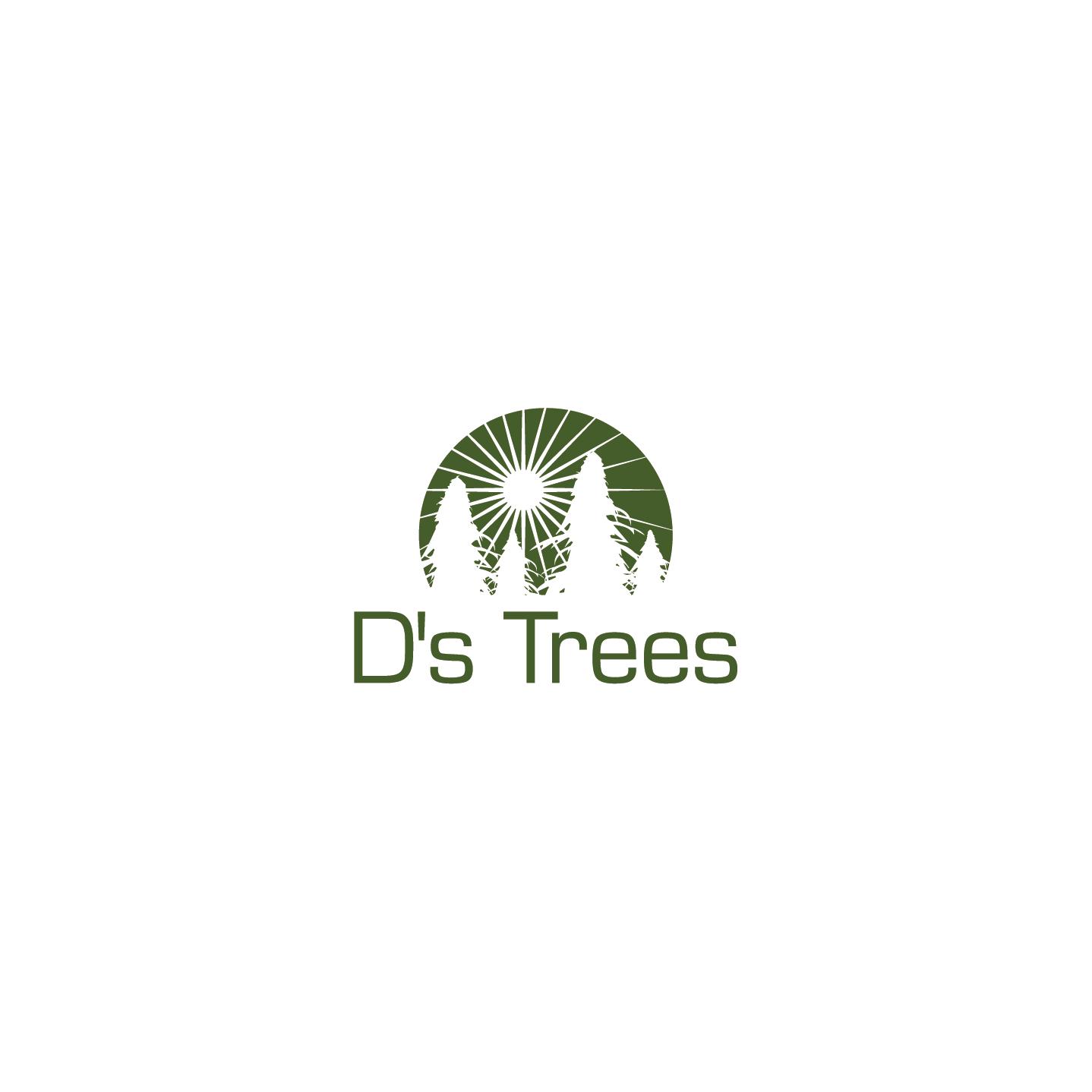 Create a hip/modern/elegant marijuana logo for D's Trees