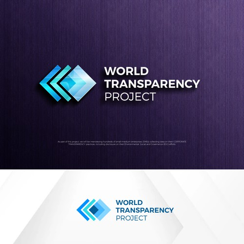 logo for world transparency project