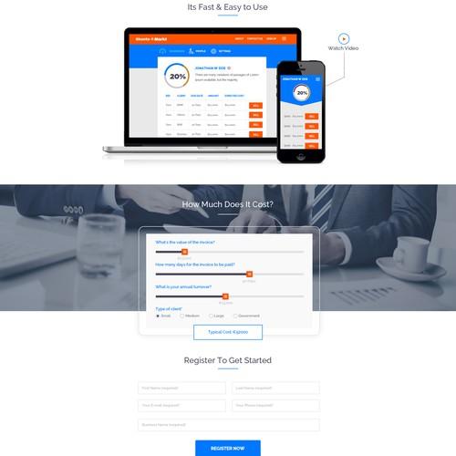 Design for financing website