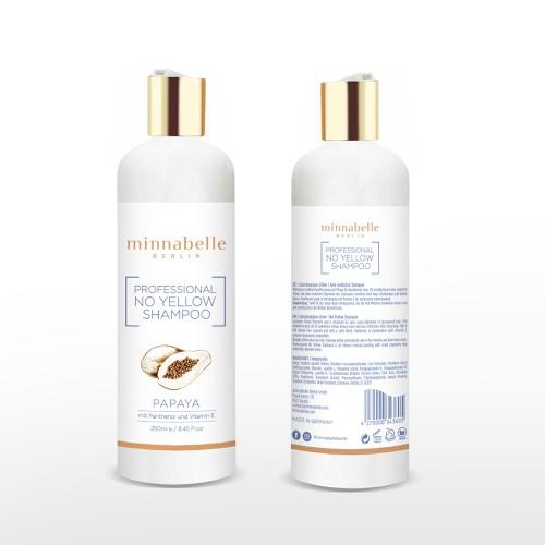 Label design for Minnabelle No Yellow Shampoo