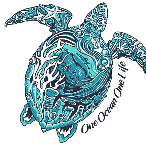 One ocean one life t-shirt