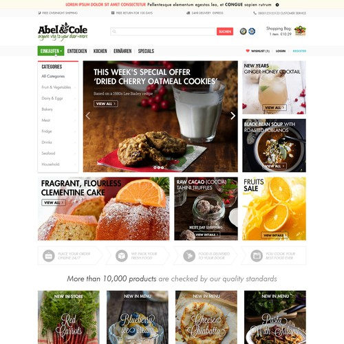 Fresh Food Online-Store searches their next Lifestyle Designer