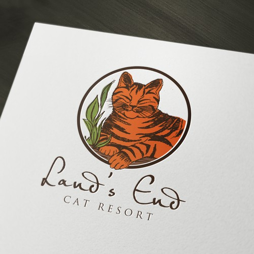 Create the next logo for Land's End Cat Resort