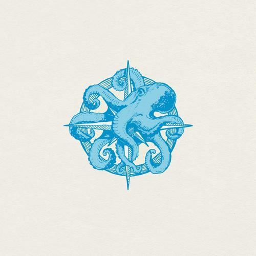 Hand-drawn Octopus logo