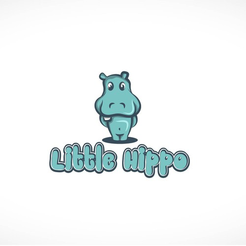 "children's products ""Little Hippo"" logo design"