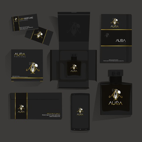 logo proposal for Aura Perfume