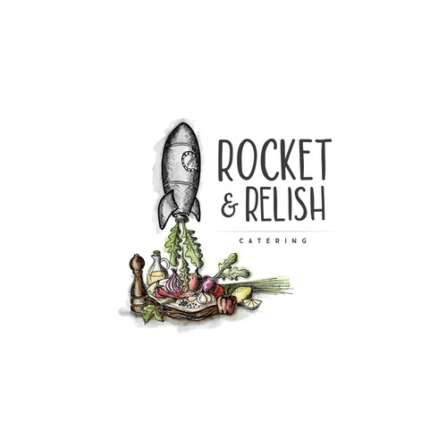 Vintage Logo for Rocket & Relish