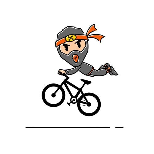 Trail Ninjas Mascot Logo