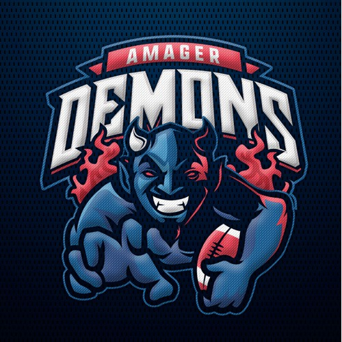 Amager Demons Football logo