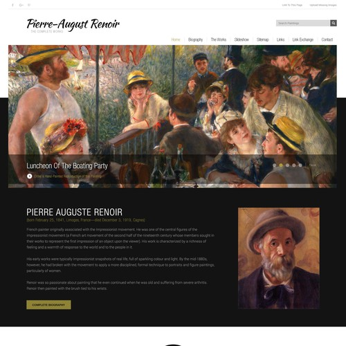 Pierre Auguste Renoir.org design update