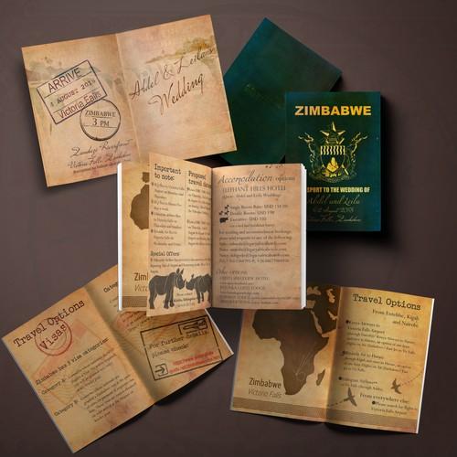 Illustrated Wedding Passport