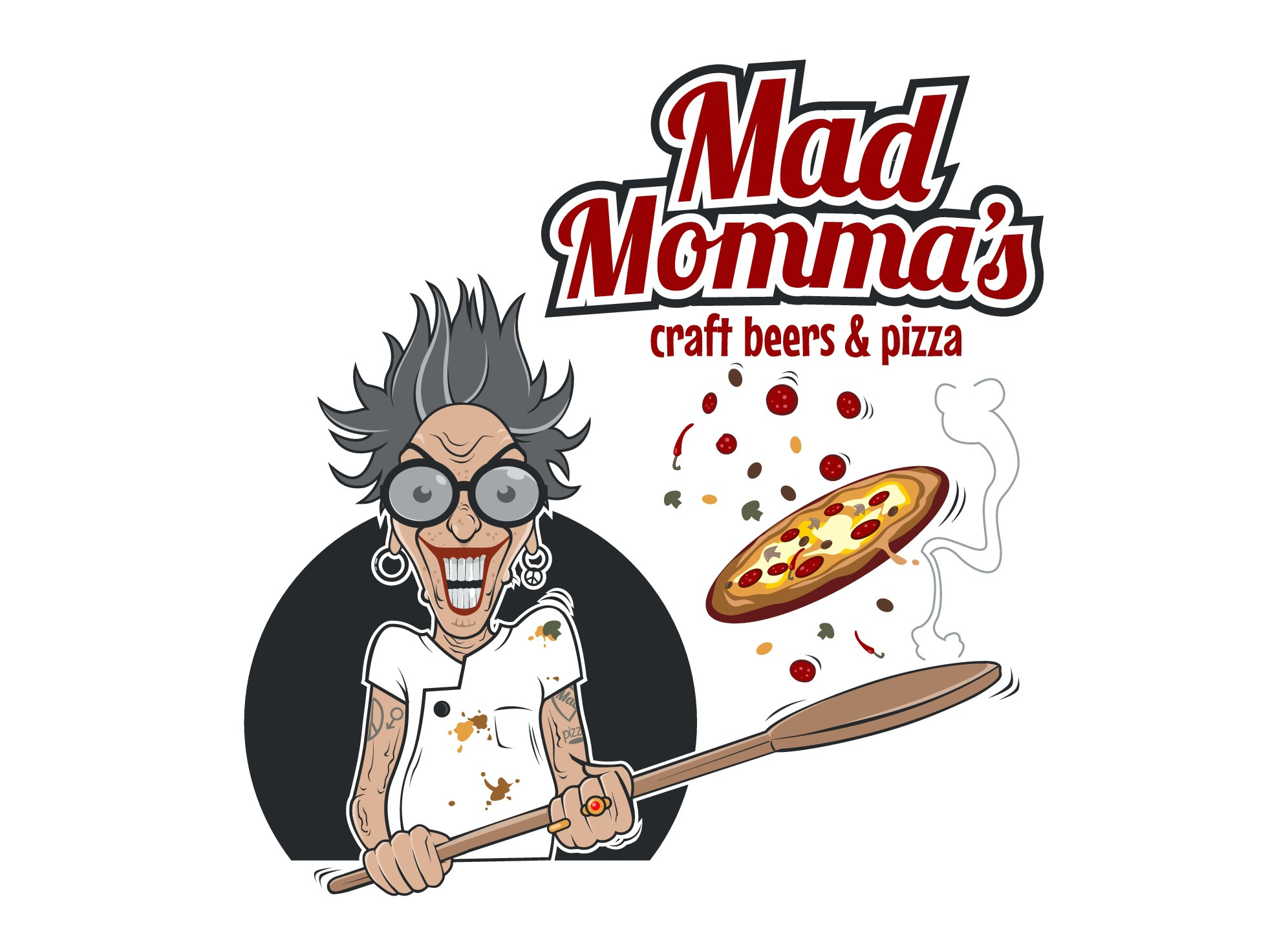 Looking for an illustrated logo design of a character named Mad Momma