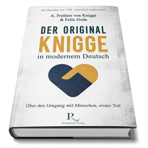 "Book cover design for ""Der  Original Knigge in Modernem Deutsch"""