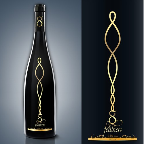 Luxury White Wine Label