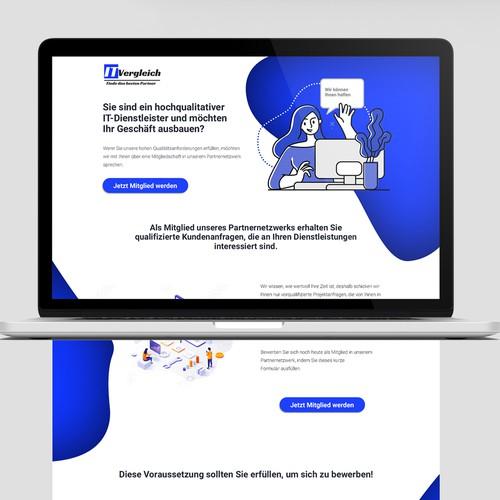 Landingpage Re-design (IT-Vergleich)