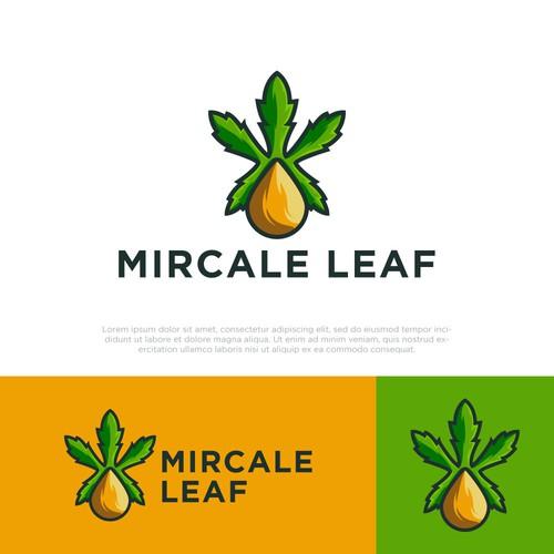 MIRCALE LEAF logo design
