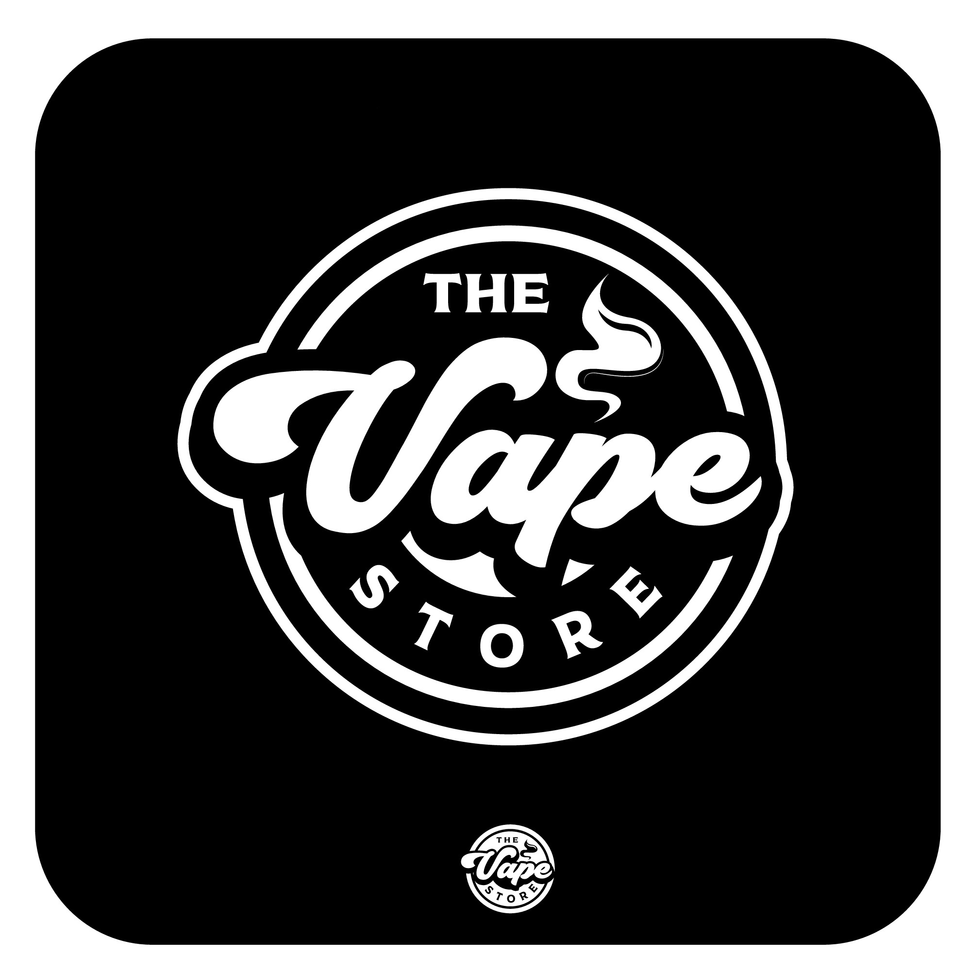 Create a modern logo for a vape store (retail and online)