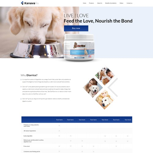 We manufacture probiotics for dogs suffering from discomfort and disease.