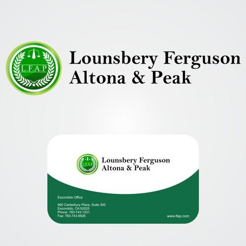 Help Lounsbery Ferguson Altona & Peak with a new logo and business card