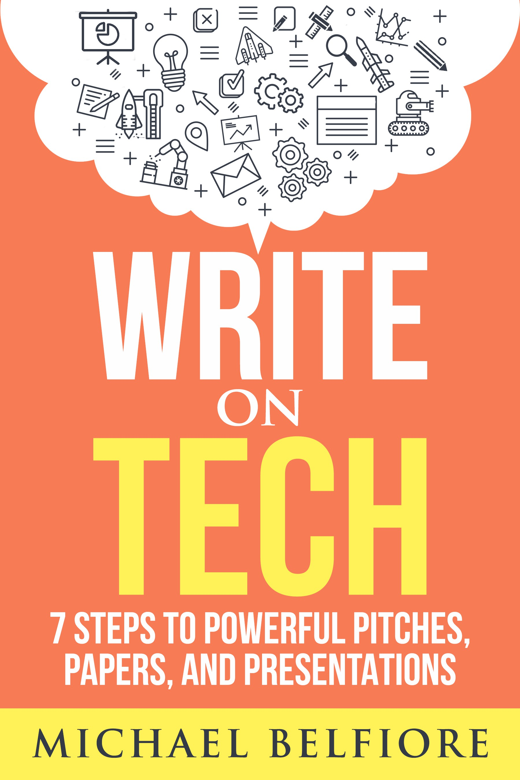 """Create a cool cover for """"Write on Tech"""" ebook"""