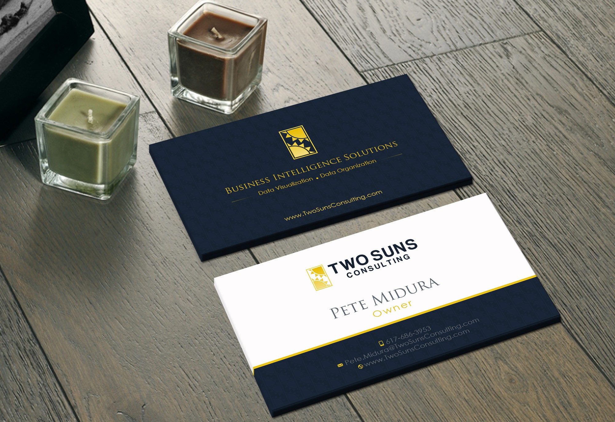 Looking for an eye-catching, memorable business card for a boring services company :-)