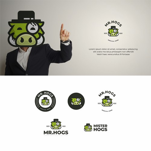 Mr. Hogs - Cannabis Dispensary Logo concept