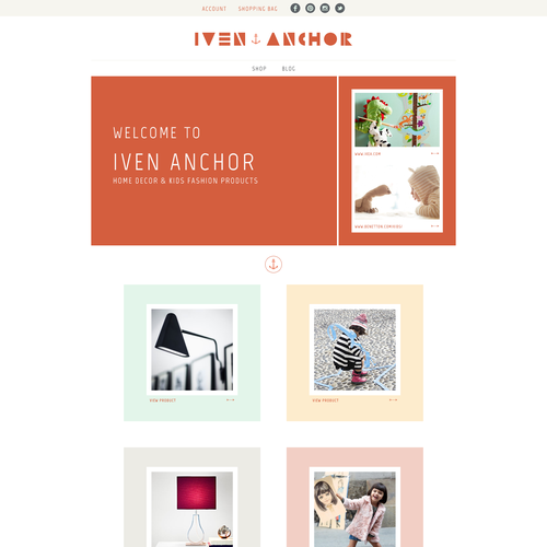 Help Iven Anchor with a new website design