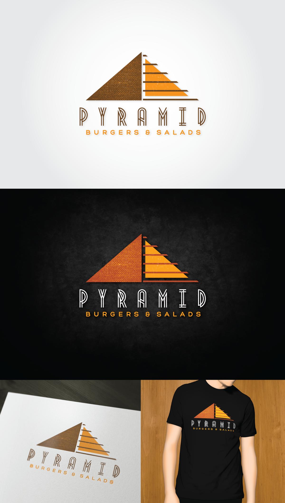 Pyramid Burgers Needs an Eye-Catching Brand-Building Logo!