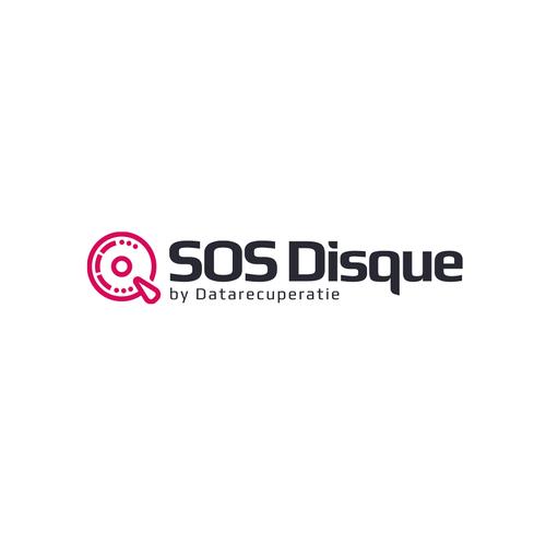 Hi-tech logo for a Belgian data recovery service