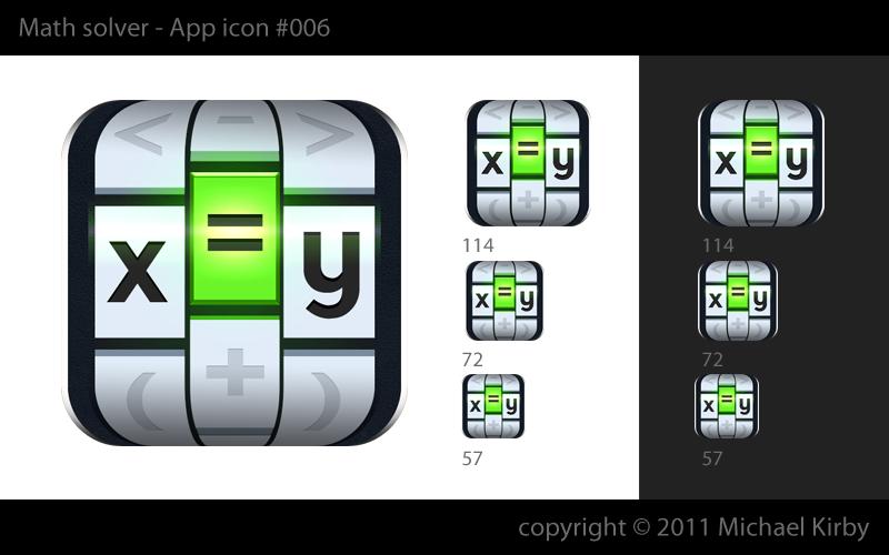 iPhone/iPad app icon, math solver app