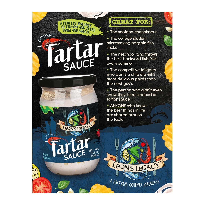Leon's Legacy Gourmet Tartar Sauce Sign
