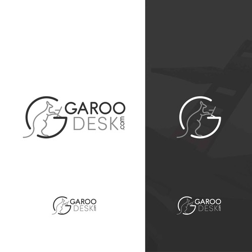 Garoo desk logo design