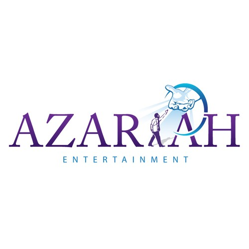 Create a illustration of God helping for Azariah Entertainment