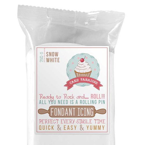 Fondant Icing Label Design