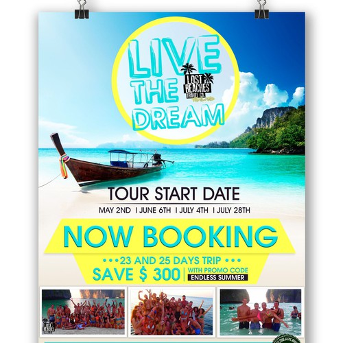 Need college travel company poster redesigned