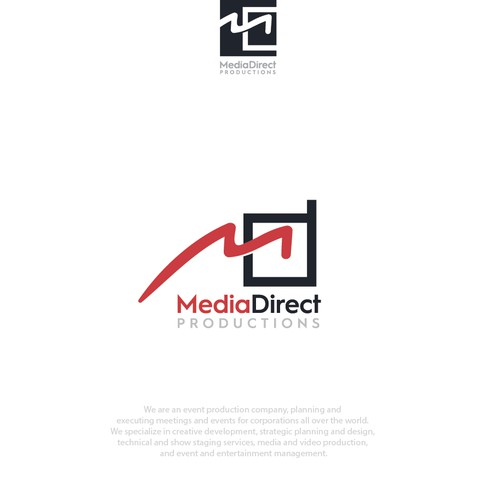 logo design for media direct prodiction