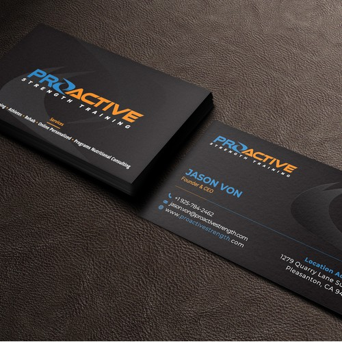 A BOLD Fitness Business Card that grabs attention
